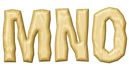 original: Wooden alphabet isolated on white background.