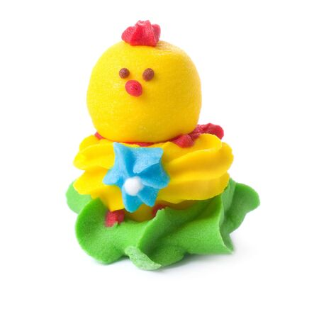 sweetstuff: Candy as chicken isolated on white.