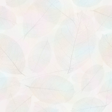 Seamless withered leafs pattern background.