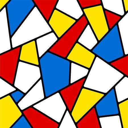vitrage: Seamless mosaic pattern.