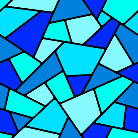 Seamless blue mosaic pattern.