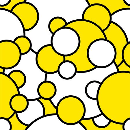 Seamless abstract circles pattern.