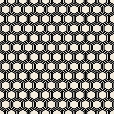 Seamless hexagone noir. Banque d'images - 64498646