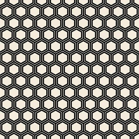 Seamless black hexagon pattern.