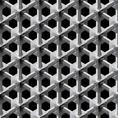 Seamless cuboid structure pattern background.