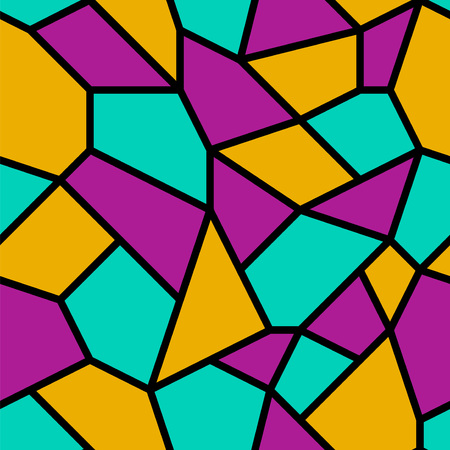 Seamless abstract mosaic pattern background. Ilustração