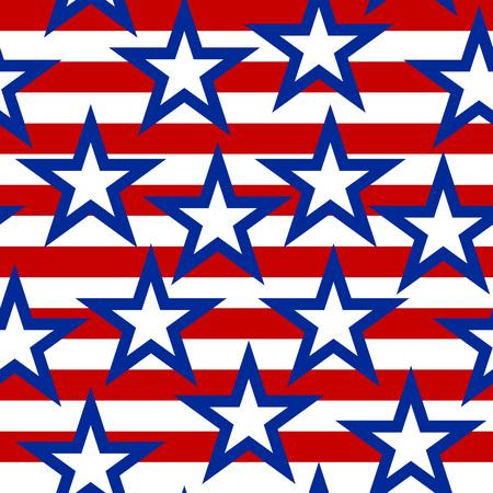 Seamless American pattern background.