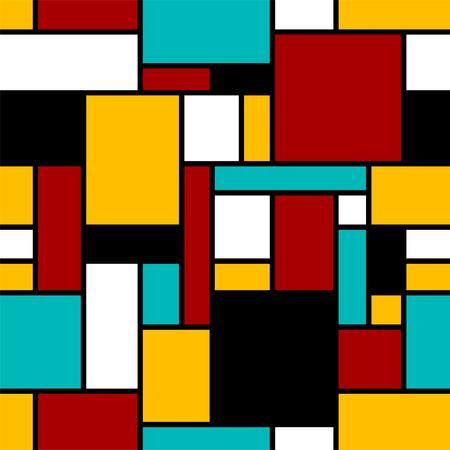Abstract seamless geometrical pattern. Illustration