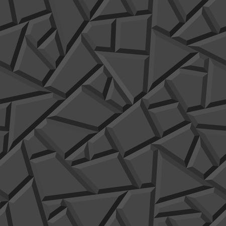 Seamless vector three-dimensional pattern. Ilustração