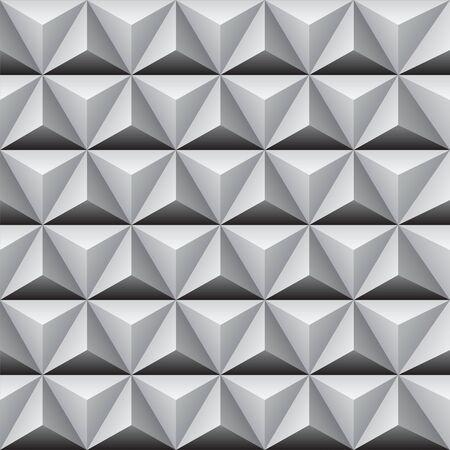 Seamless pyramidal pattern.
