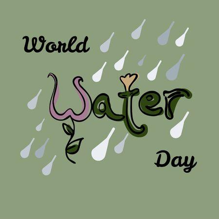 environmental awareness: World Water Day Illustration.