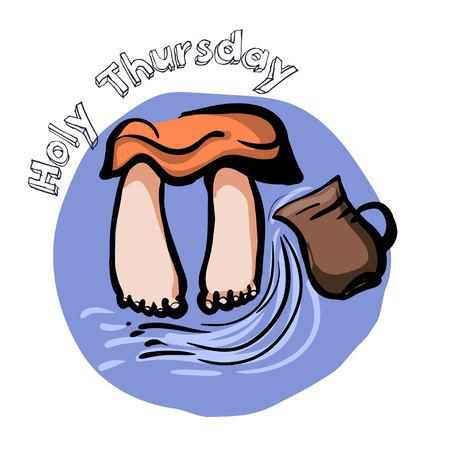 Holy Thirsday illustration