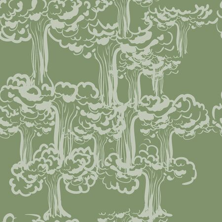 Arbor Day seamless pattern with trees