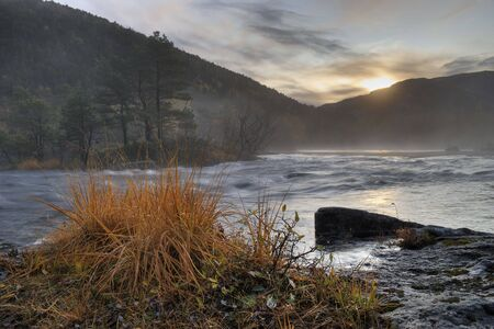 bod: River landscape at fall