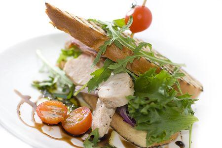 sandwich au poulet: Sandwich au poulet Banque d'images