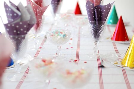 A table set for a birthday party photo