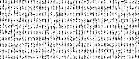 Corrupted code. Vector halftone texture. Cybernetic futuristic background. Big data visualization. Foto de archivo