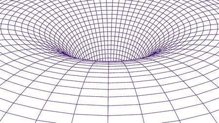 Abstract tunnel. Vector wormhole 3D Corridor mesh
