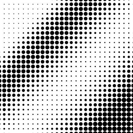 Vertical gradient of black and white dots. Halftone texture. Vector illustration.