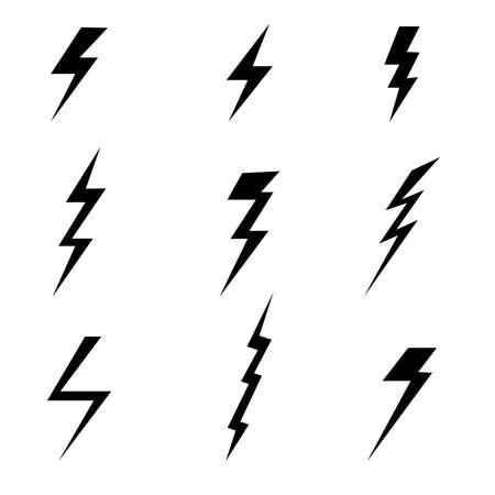 Thunder and lightning icon . Vector illustration.