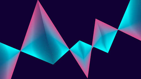 Futuristic colorful background. Gradient geometric banner with pink, blue, purple. Equalizer for music. vector.