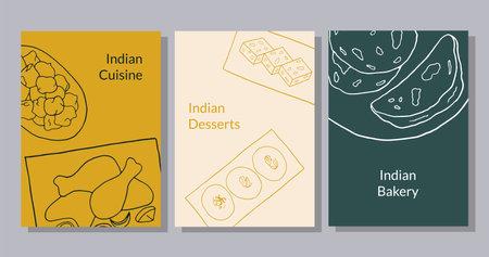 Design sketch element for menu cafe, bistro, restaurant, bakery and packaging. Vector illustration.