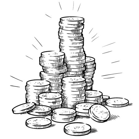 Stacks of coins