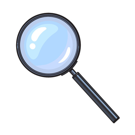 Magnifying glass Иллюстрация