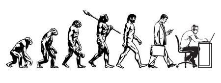 Theory of evolution of man