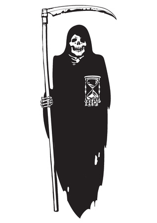 Death with hourglass