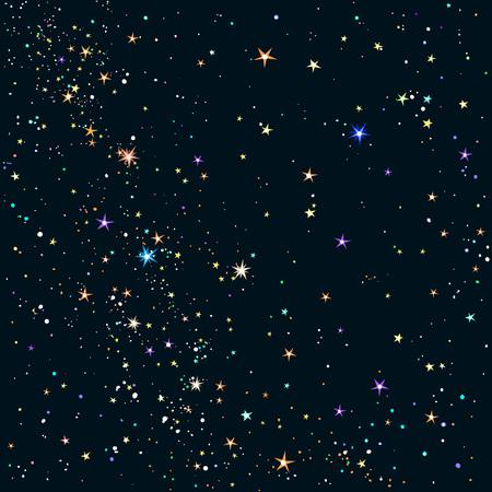 Priorità bassa del cielo notturno stellato Vettoriali