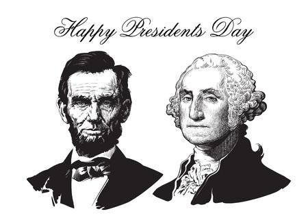 Abraham Lincoln i George Washington Zdjęcie Seryjne