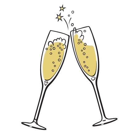 Two glasses of champagne Archivio Fotografico