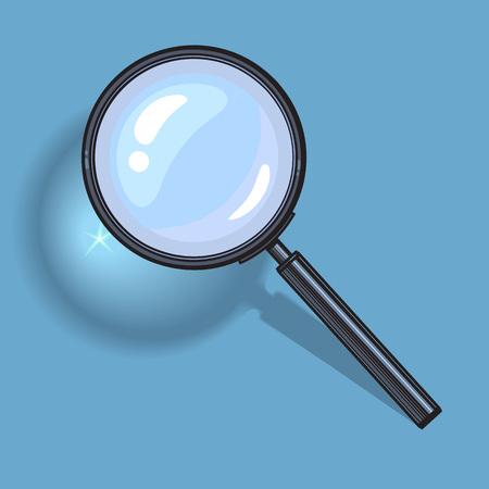 Magnifying glass. Vector. Illustration