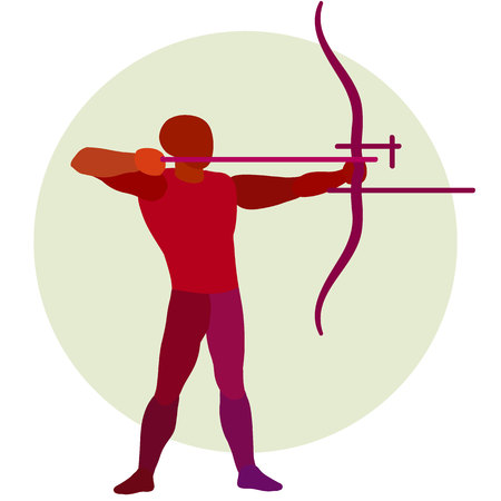 Archer. Vector silhouette of bowman.