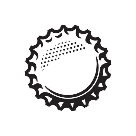 Beer bottle cap. Vector illustration isolated on white background.