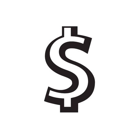 Dollar sign icon. USD currency symbol. Money concept. Vector illustratio on white background.