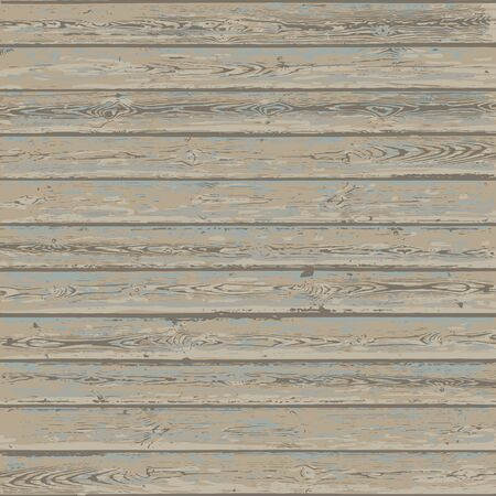 Vintage wood texture background. Weathered wooden planks. Vector illustration. Иллюстрация