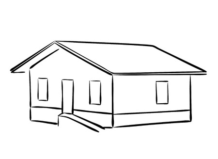housetop: vector small house - silhouette