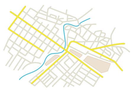entrada da garagem: ruas no plano da Cidade Ilustração