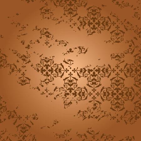 threadbare: invecchiato marrone sfondo vettoriale con gradiente