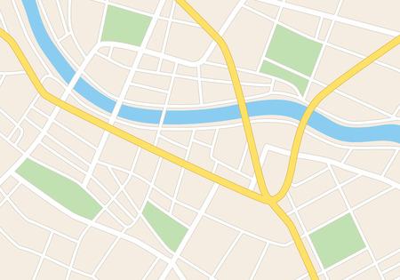 mapa: calles de la ciudad en el plan - vector