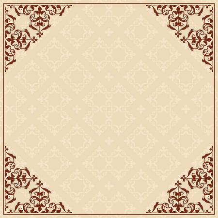 quadratic: Sfondo quadratica con ornamento in angoli