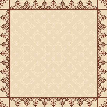 quadratic: tarjeta cuadr�tica con marco de �poca