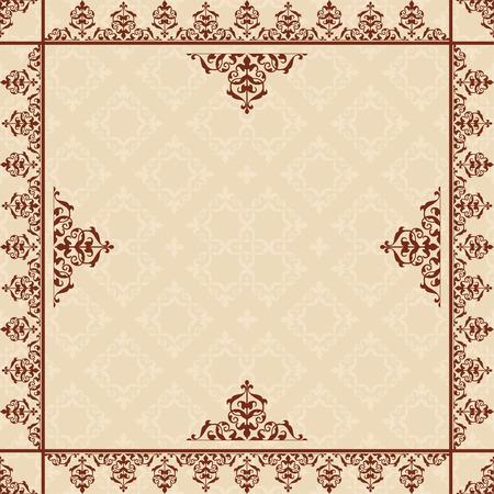 quadratic: fondo beige con adornos victorianos