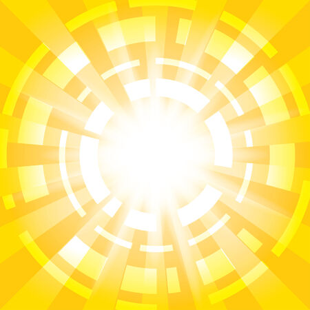 abstractions: yellow abstract background with radial abstractions - vector - eps 10