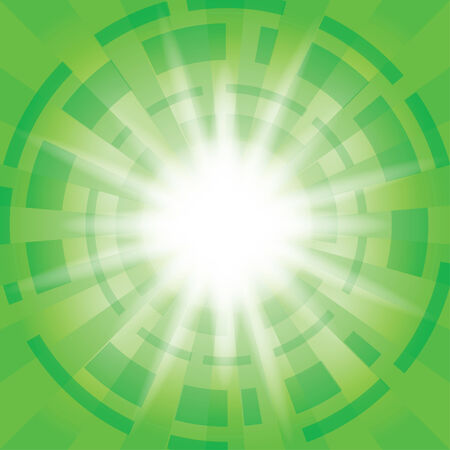 abstractions: green abstract background with radial abstractions - vector - eps 10