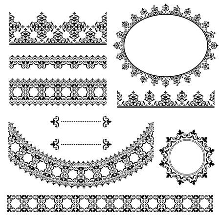 black vintage design elements - vector