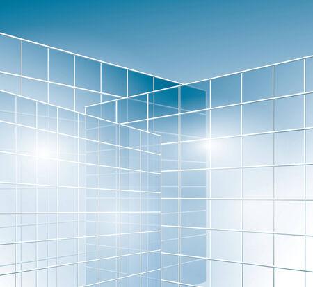 pane: glass walls of buildings - windows - vector - eps 10