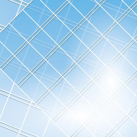 pane: blue vector windows on modern buildings - eps 10 Illustration